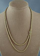 9ct yellow gold chain approx 20.0 grams and 80cm