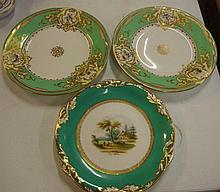 Three various Victorian cabinet plates