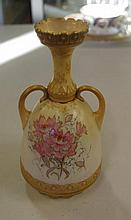Antique Doulton Burslem two handled vase with