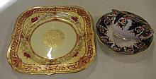 Royal Worcester cabinet plate together with a