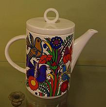 Villeroy and Boch  'Acapulco' teapot 20.5cm high,