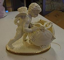 Antique Moore Brothers Cherub vase Marked F. Goode