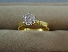 18ct yellow and white gold 1.51ct diamond ring