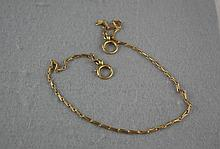 9ct gold fob chain approx 7.0 grams, approx 33cm