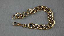 9ct gold curb link bracelet and swivel hallmarked