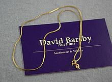 14ct yellow gold chain approx 37cm in length and