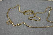 18ct yellow gold serpentine link chain 62cm in