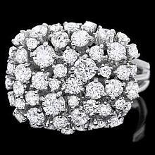 14ct white gold, 51 stone diamond ring 51 diamonds