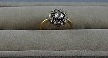 Antique 10ct gold, diamond ring total weight