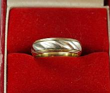 9ct gold and silver ring