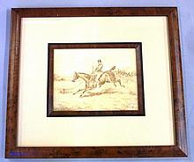 Henry Alken (1785-1851) sketch on paper horse and rider, signed lower left, 12cm x 16cm approx