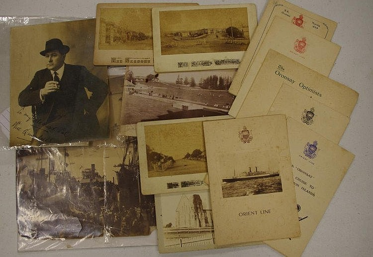 SS Oronsay memorabilia & other items including