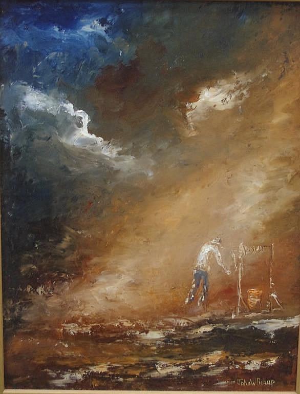John Pickup (1931-) Bucketful Of Dreams Oil on