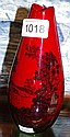 Royal Doulton red flambe vase