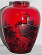Vintage Royal Doulton Flambe vase 12cm high