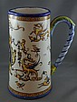 Antique French Gien faience pottery jug