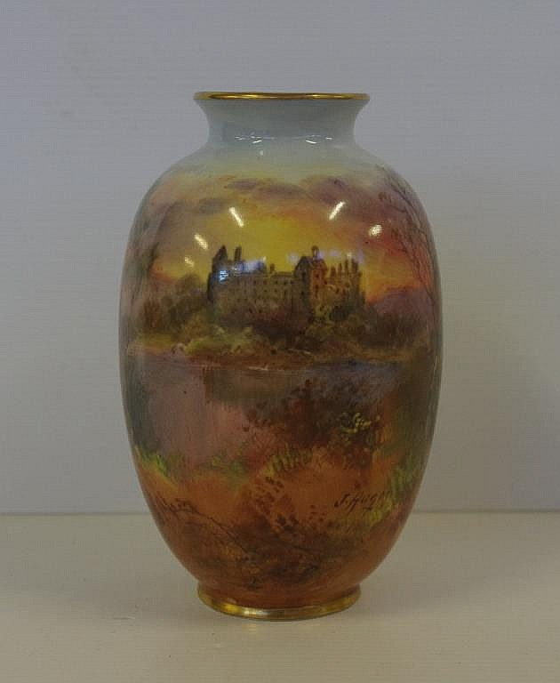 Royal Doulton Jghes Signed Vase Linlithgow Circa 1910
