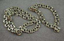 14ct gold bracelet three chain bracelet split to