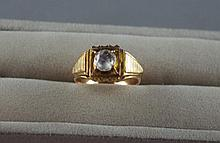 Antique gold and diamond solitaire ring Total