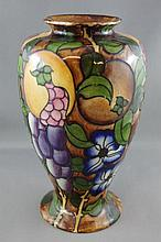 Rare Bursley ware vase by Charlotte Rhead tube