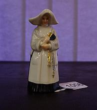 Royal Worcester antique porcelain candlesnuffer in