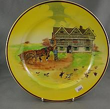 Royal Doulton plate signed by Cecil Aldin 25 1/2cm