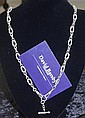 Fancy sterling silver fob chain marked sterling