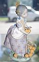 Lladro figure of Spanish girl carrying basket