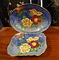 Two large Royal Doulton Poppy dishes 23cm & 29cm