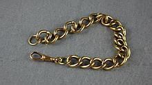Victorian 'Albert' 9ct gold belcher link chain