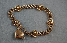 9ct rose gold curblink and knot bracelet total