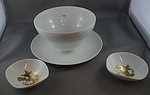 Rosenthal white bowl together with 2 dishes