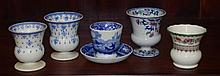 Copeland Spode egg cup/saucer & 4 miniature vases
