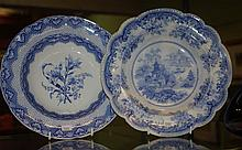 Two antique blue & white transfer ware bowls