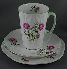 Shelley beaker with matching saucer and plate