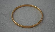 9ct rose gold bangle Approx 22.6 grams