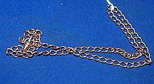 English 9ct gold Albert chain approx 13.7 grams