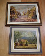 Rae MacKenzie, two oil on board paintings one