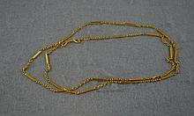 23ct yellow gold long chain tested. total weight