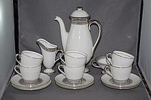 Royal Doulton Art Deco coffee set comprising of