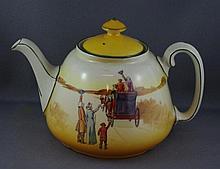 Royal Doulton Coaching Days teapot 12cm high