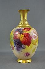 Royal Worcester Kitty Blake signed vase hand