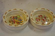 2 Royal Doulton Bunnykins baby plates