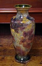 Royal Doulton stoneware vase with impressed mark