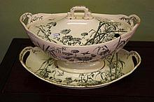 Victorian George Jones & Sons soup tureen with