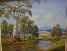 Sir Erik Langker (1898-1982) River Reflections Oil