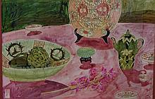 Greg Irvine (1947-) The Lotus Flower Watercolour.