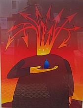 Jean Michel Folon (1934-2005) signed lithograph