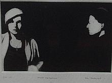 John Drawbridge (1930-2005) Heloise and Francoise