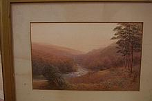Two 19th century English Holne Chase watercolours